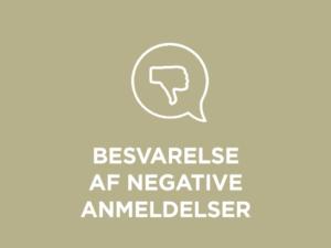 Besvarelse af negative anmeldelser