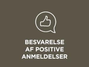 Besvarelse af positive anmeldelser